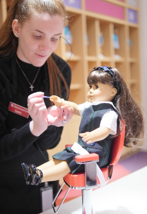 American Girl Cafe & Hair Salon Experience - American Girl Samantha doll - Theresa's Reviews