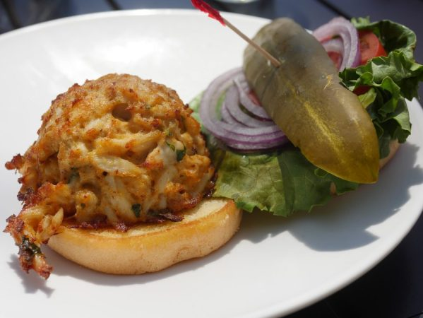 How To Have A Simple Springtime Family Celebration - Theresa's Reviews - Crab Cake Sandwich