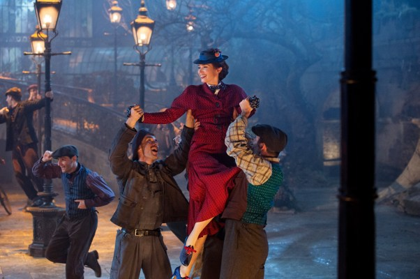 Mary Poppins Returns Sweeter Than Ever! - Theresa's Reviews - In Mary Poppins Returns, Emily Blunt is Mary Poppins, Lin-Manuel Miranda is Jack, Pixie Davies is Annabel, Nathanael Saleh is John and Joel Dawson is Georgie.