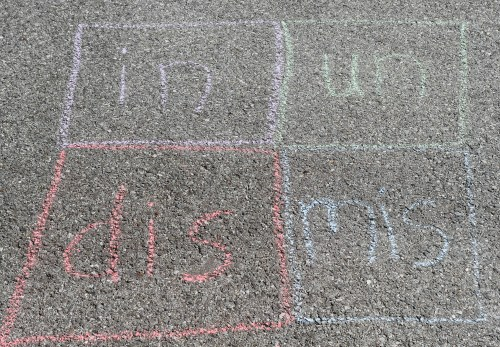 Run, Jump, & Learn with Sidewalk Chalk Vocabulary Activities