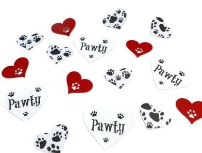 Paw Print Dog Table Confetti, Misfit Manor Shop