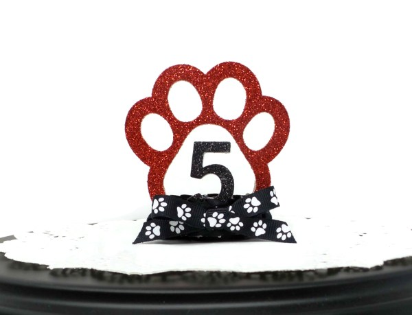 Red Dog Birthday Crown, Misfit Manor Shop, Nancy Halverson, The Rescue Mama, Dog Party Favors