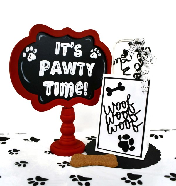 Paw Print Dog Party Bags