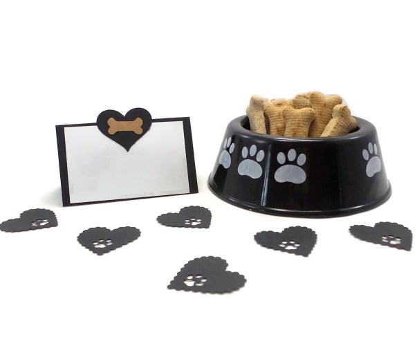 Black and Brown Dog Party Place Cards, The Misfit Manor Shop