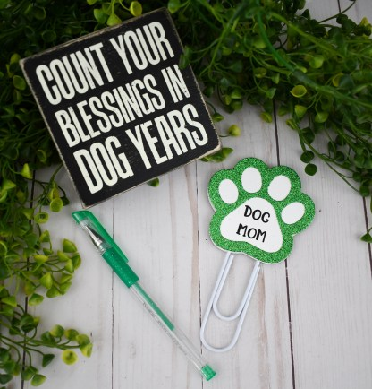 Dog Mom Planner Clip, The Misfit Manor Shop