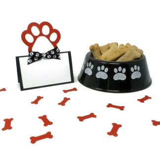 Paw Print Dog Party Place Cards
