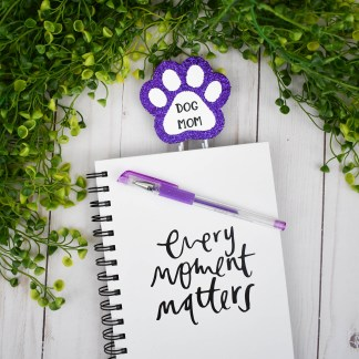 Purple Dog Mom Planner Clip, The Misfit Manor Shop