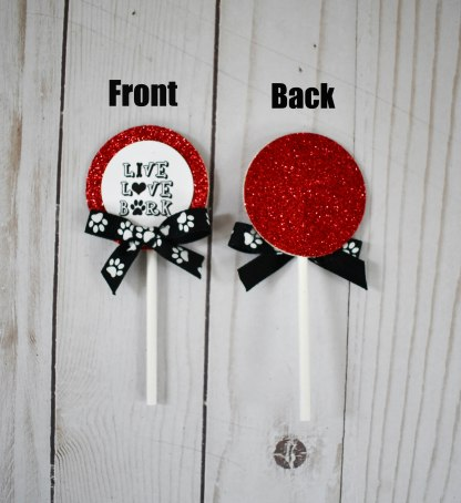 Paw Print Cup Cake Toppers - Misfit Manor Shop