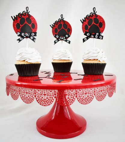 _Paw Print Cup Cake Toppers - Misfit Manor Shop