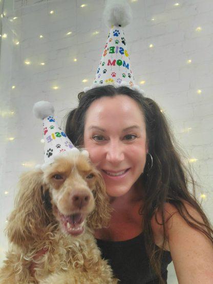 Rainbow Dog Party Hat