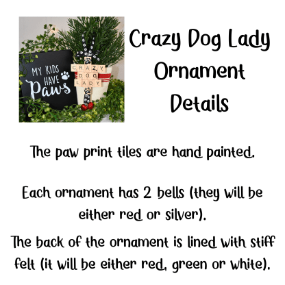 Crazy Dog Lady Ornament Gift