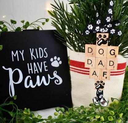 Dog Dad AF Christmas Ornament - The Misfit Manor Shop