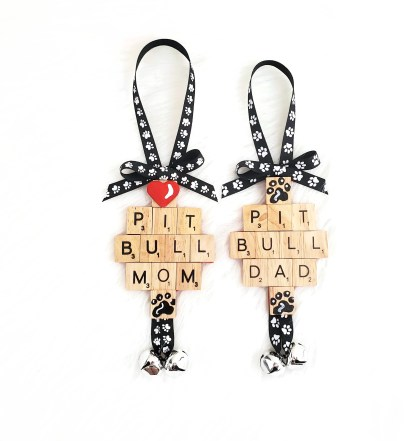 Pitbull Lover Ornaments, The Misfit Manor Shop