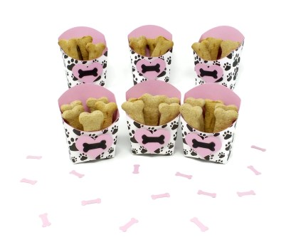 Pink Dog Party Favors