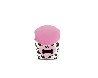 Pink Paw Print Favor Boxes