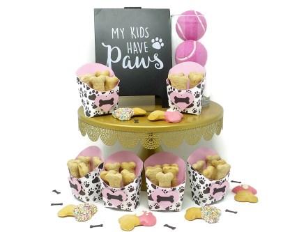 Pink Paw Print Bone Boxes