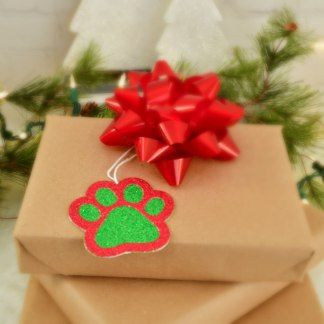 Christmas Gift Tags - Paw Prints