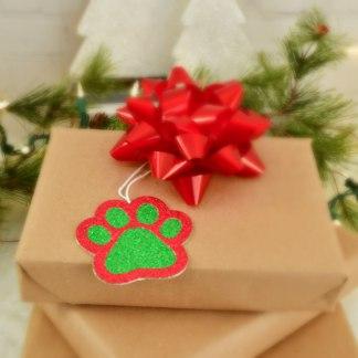 Christmas Gift Tags - Paw Prints