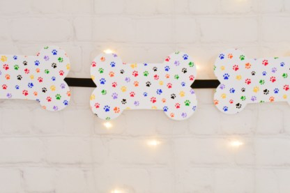 Rainbow Dog Bone Banner