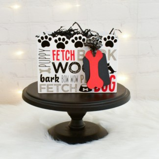 Dog Birthday Party Favor Box