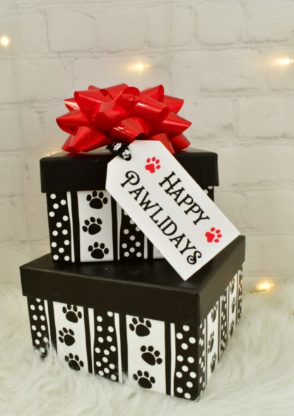 Happy Pawlidays Gift Tags