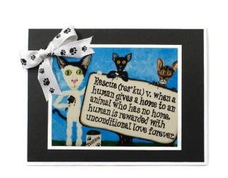 Cat Rescue Card