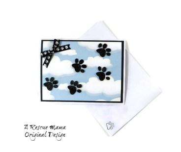 pet sympathy card, dog sympathy card, cat sympathy card, pet bereavement, the rescue mama, Nancy Halverson