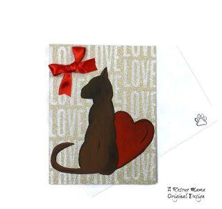 Cat sympathy card, cat condolence card, cat bereavement card, loss of cat card
