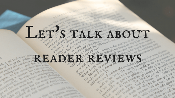 Let's talk about reader reviews