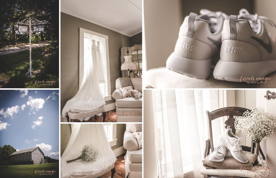 white wedding with nike shoes