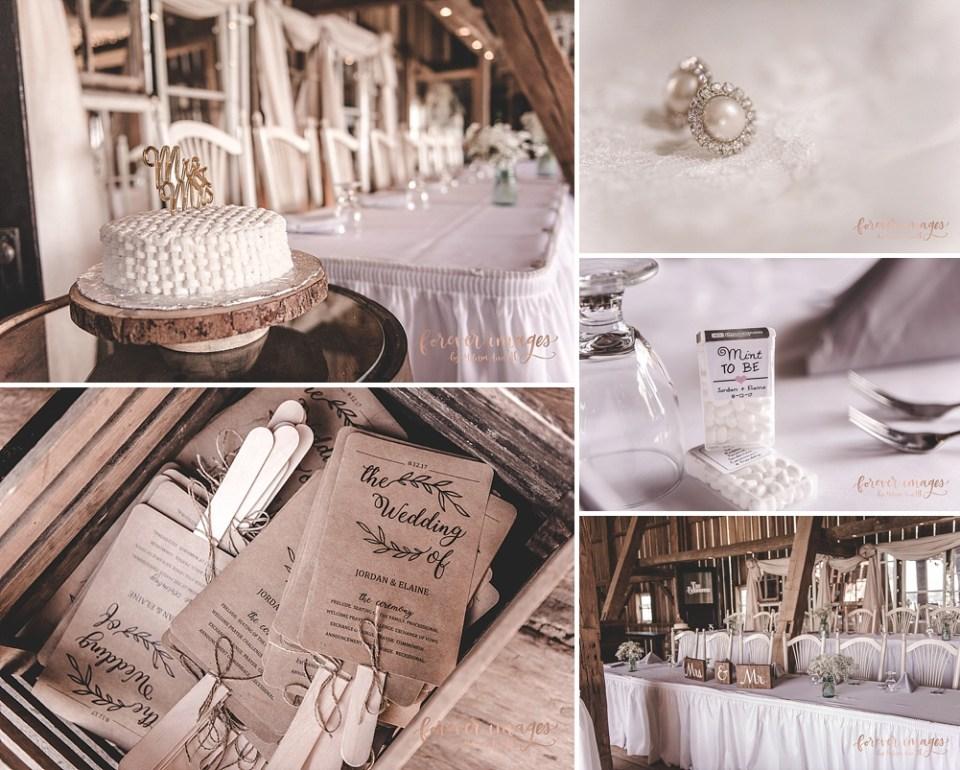 white barn wedding in Indiana