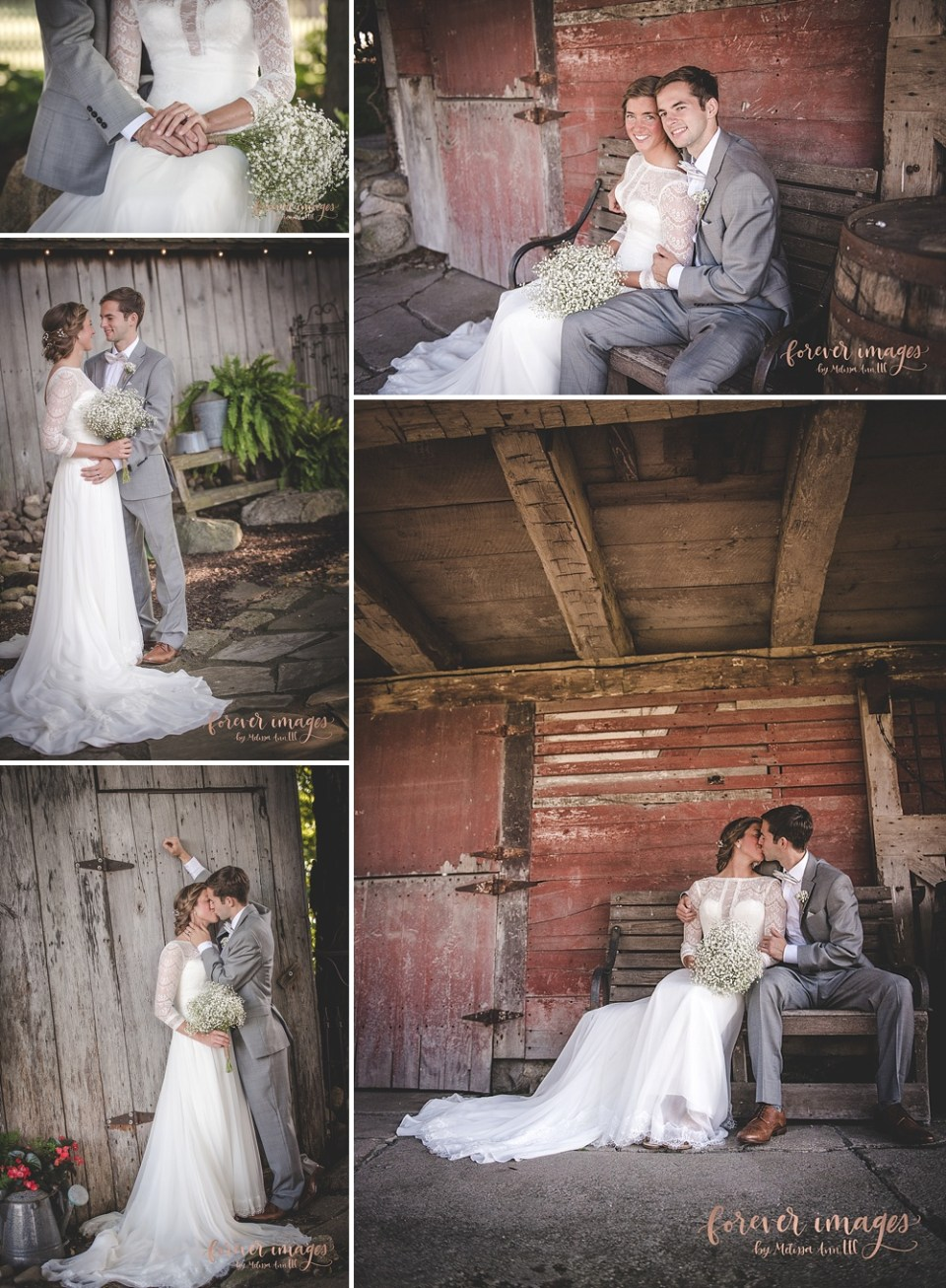 barn wedding portraits