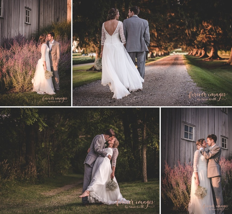 golden hour wedding photos