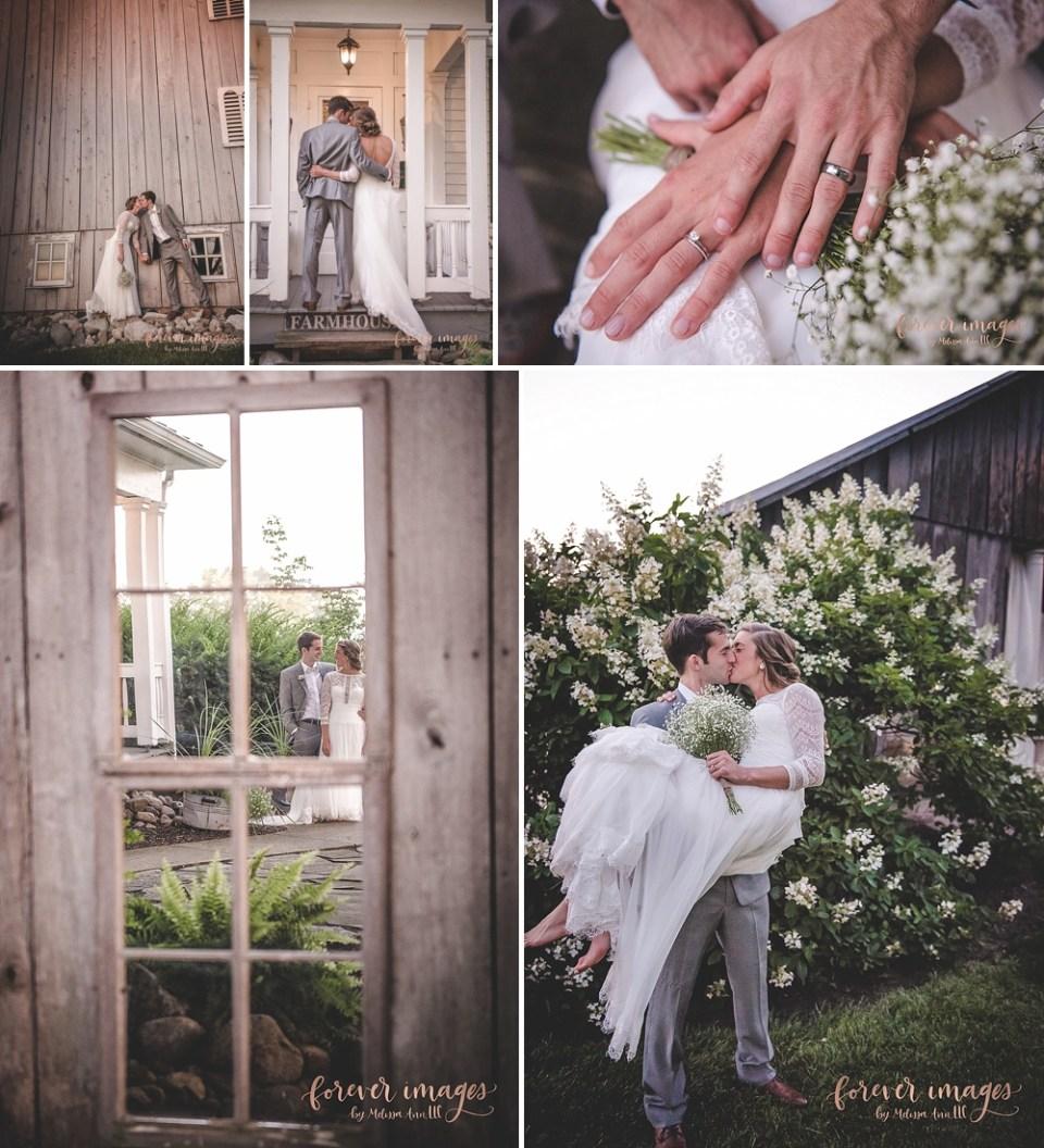 wedding photos with white flowers