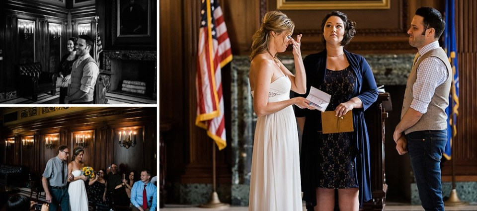 wedding ceremony at Wisconsin State Capitol