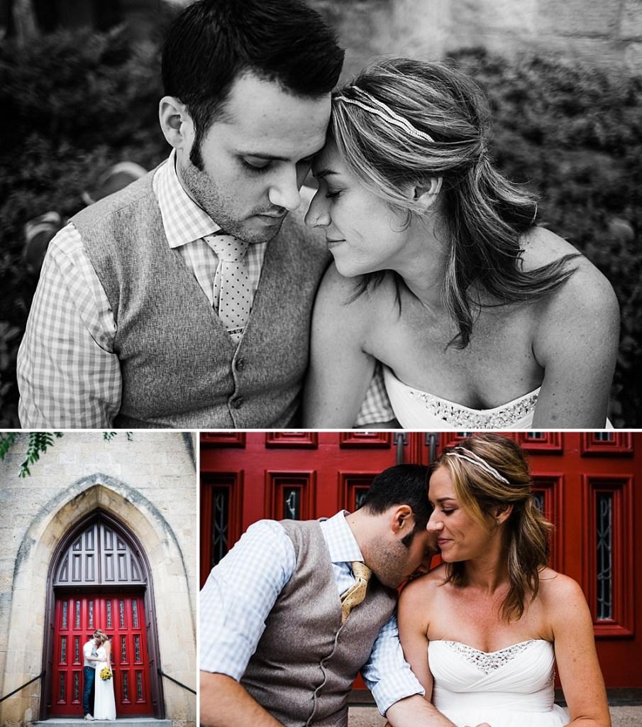 red door photos of bride and groom