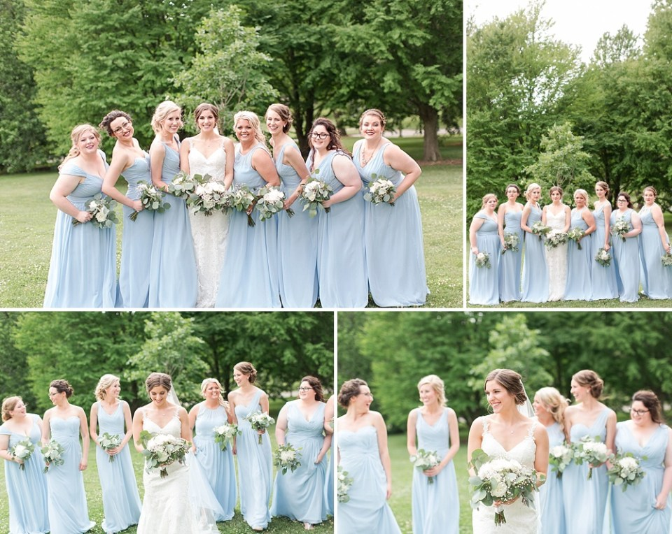 baby blue bridesmaid gowns