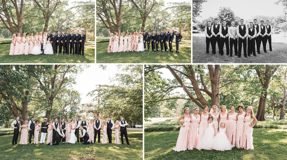 blush pink bridesmaids wedding party