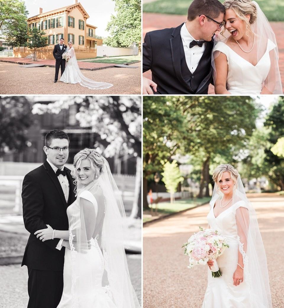 Springfield Illinois wedding portraits