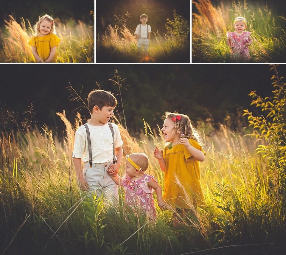 golden hour sunset family photos