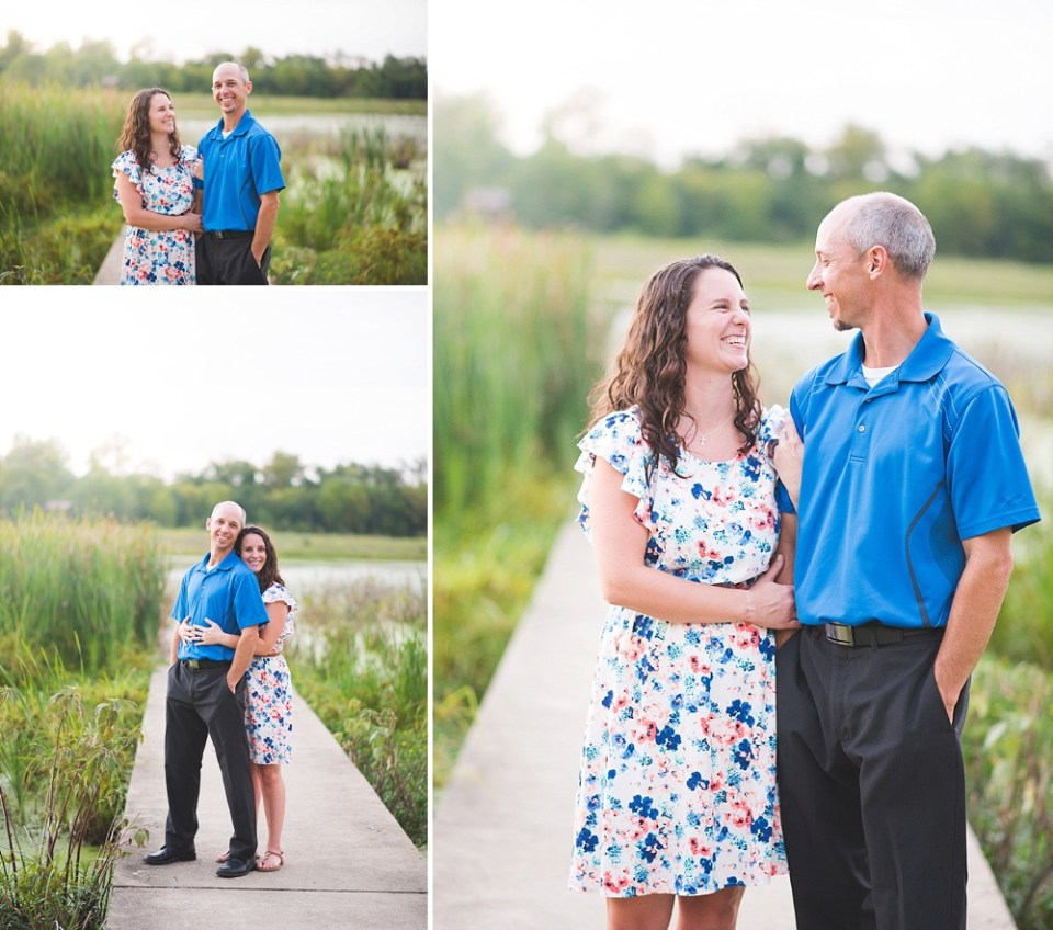 couple celebrating 10th anniversary with photo session