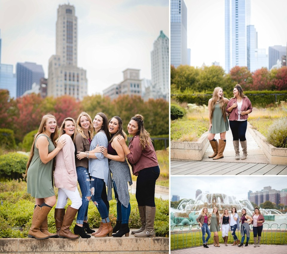 senior girl photos at Buckingham fountain