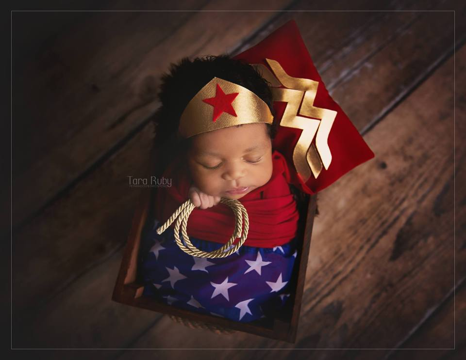 Wonder Woman newborn photography