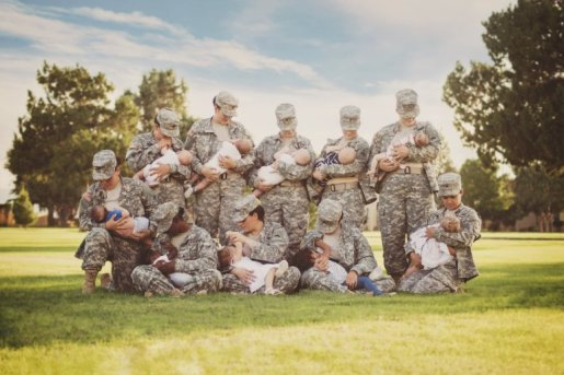 Breastfeeding military photo