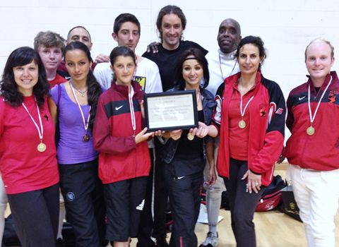 Fencing tournament winners