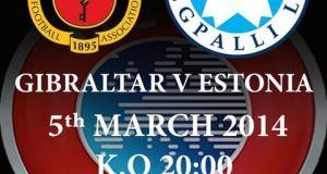 Gibraltar v Estonia football poster