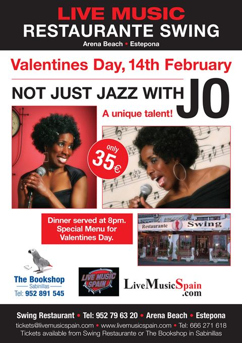 Valentines with Jo at Swing Restaurant