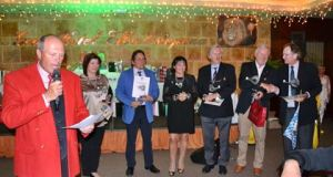 Dr. Volker Bernhardt with European Golf Championship winners