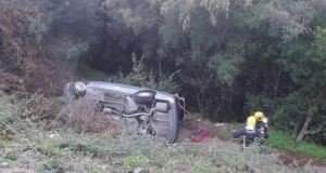 Car crash in Casares