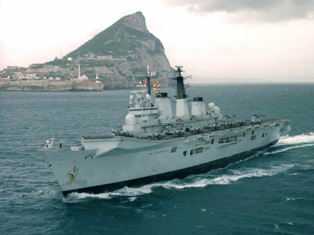 HMS Invincible in Gibraltar